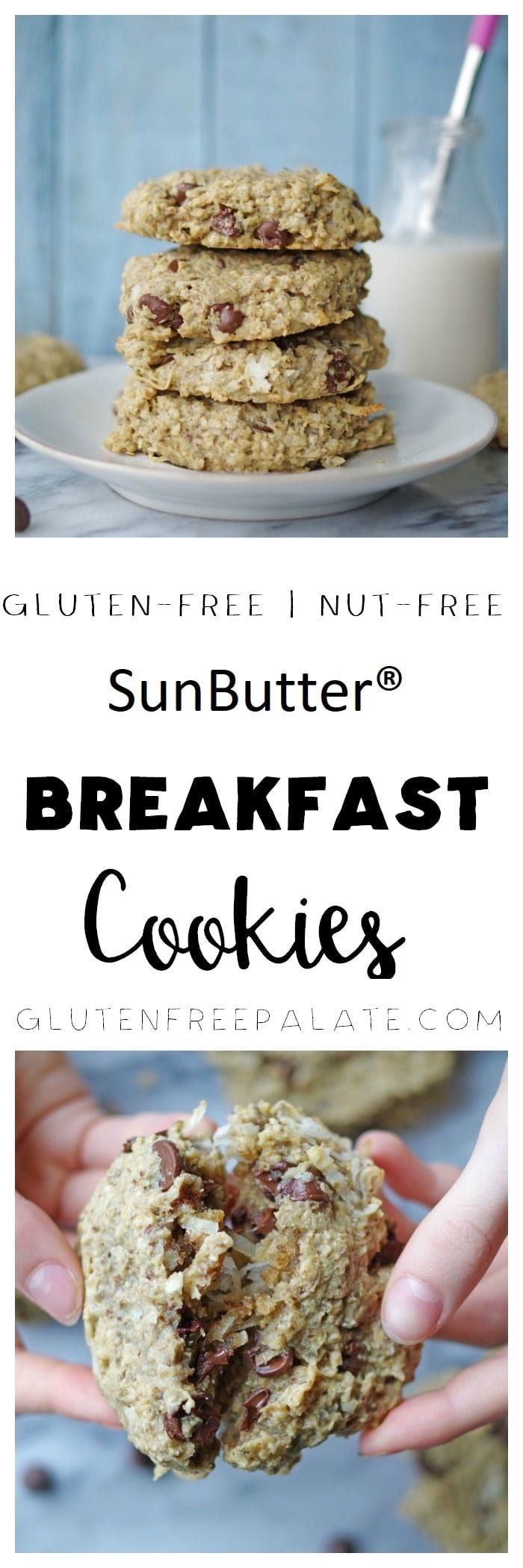 Looking for a quick grab-and-go breakfast? These Gluten-Free SunButter® Breakfast Cookies are healthy and filling. via @gfpalate