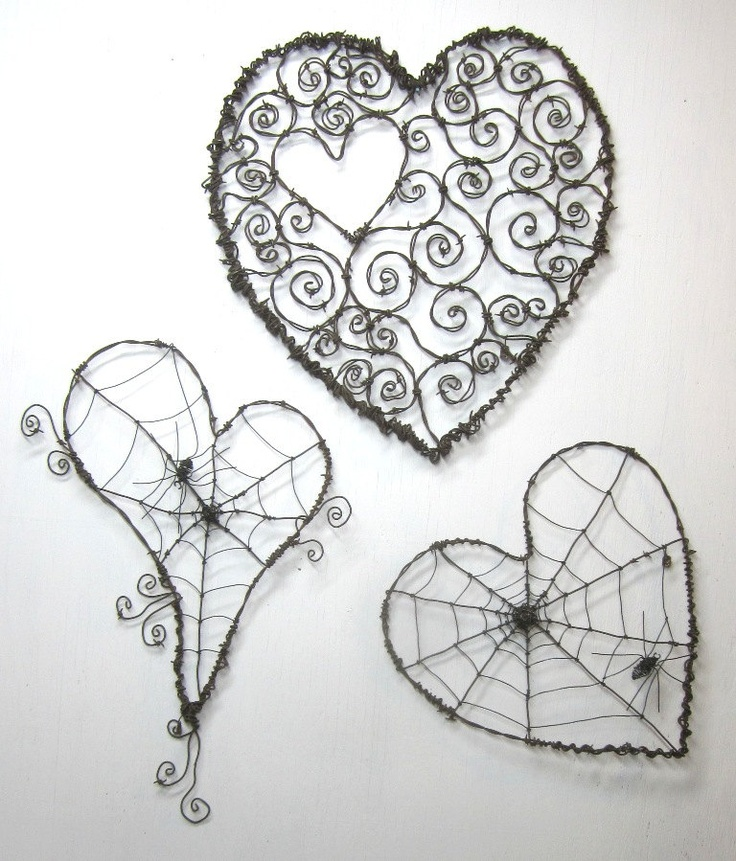 Barbed wire art for your fence