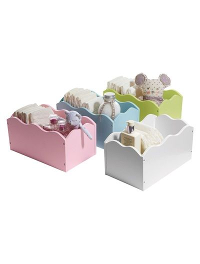 Caixa de arrumação para bebé ROSA+AZUL+BRANCO+VERDE+CINZENTO cada 16,99€ vertbaudet
