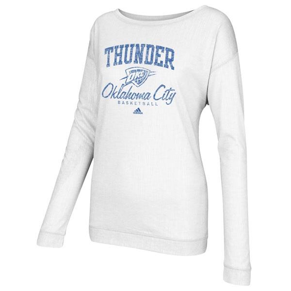 Oklahoma City Thunder Women's adidas New Athletic Long Sleeve Slouchy Tee