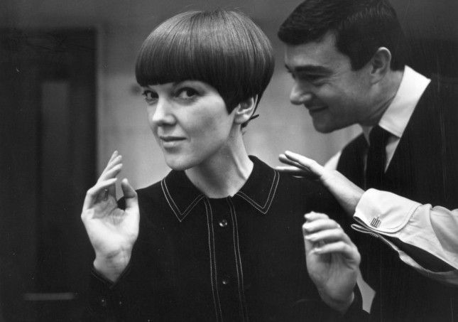 Mary Quant: Designer and major influencer of British fashion in the '60s, Quant shows off a 'do courtesy of famous hairdresser Vidal Sassoon in November of 1964. (Photo via Ronald Dumont/Express/Getty)