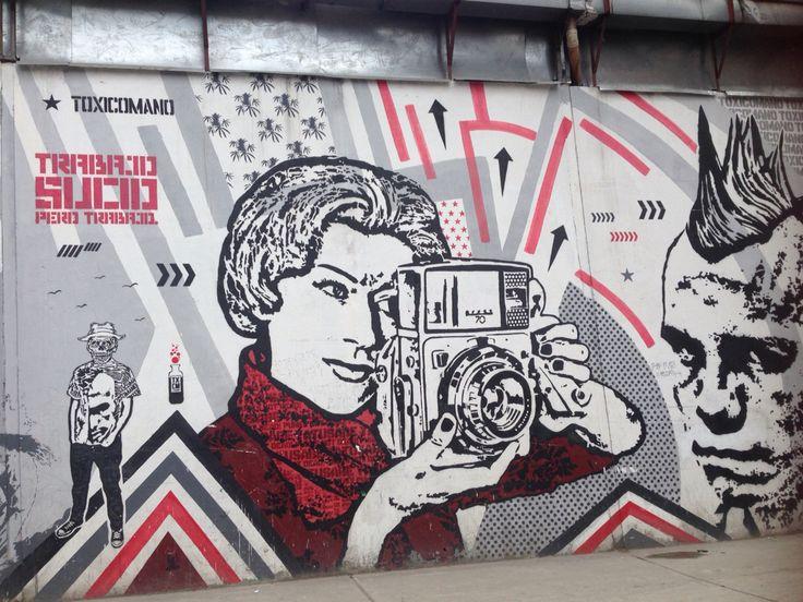 Hermoso mural de graffiti en #bogota