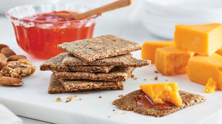 Rosemary & Walnut Grain-Free Crackers