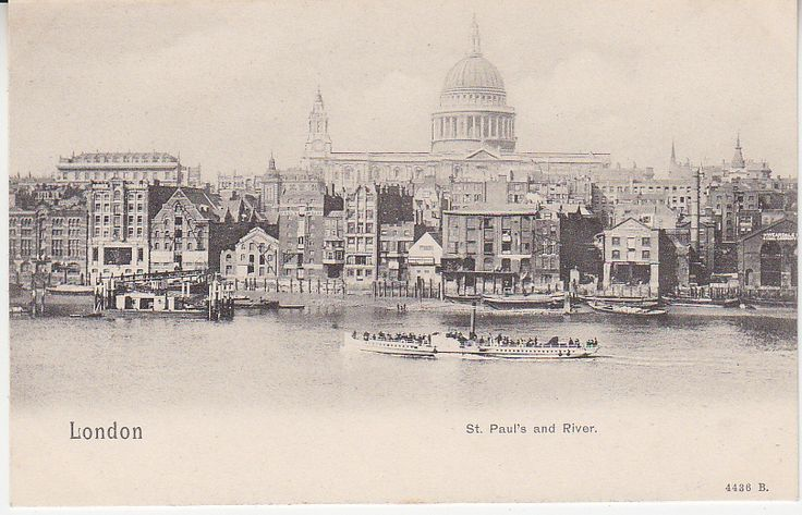 Peacock Brand Postcard - London, St Paul's and River - 4436B | PC02301