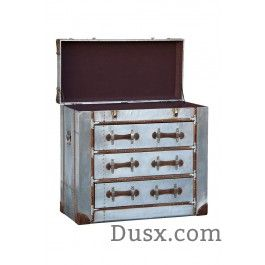 Industrial Aluminium Chest of Drawers: For sale at www.DusX.com: This gentlemans travelling chest of drawers is too good to keep only for the boys! One of the iconic
