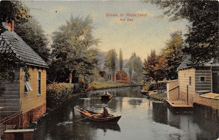 Holland - Broek in Waterland Het Dee Postcard Ca 1910