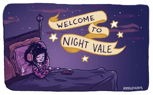 """You find out that listening to Night Vale as you fall asleep = pretty weird/epic/terrifying dreams 
