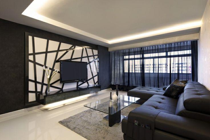 Interiordesign For Singapore  Room Hdb Space Vision Design