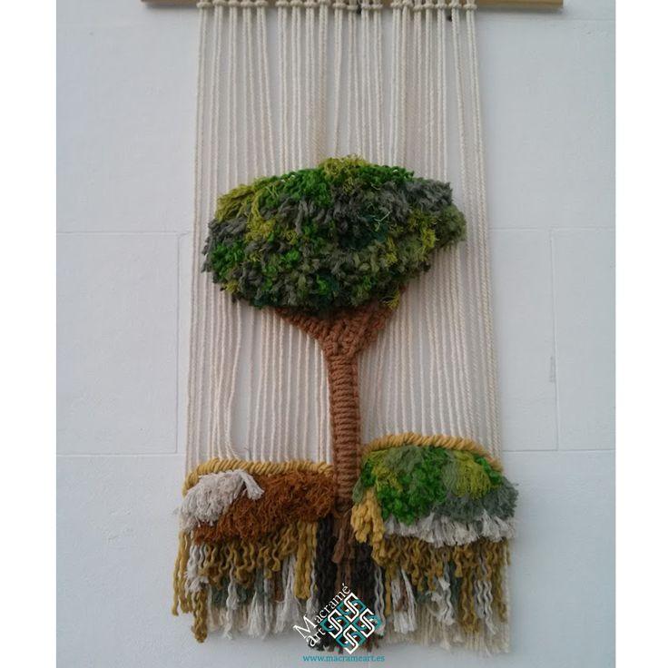 1000 images about tapices de macram de macrameart on - Tapices de macrame ...