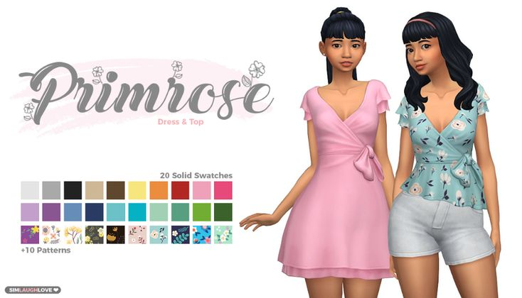 Primrose Dress & Top – Hello there! Here's a cute wrap style dress and top. It…