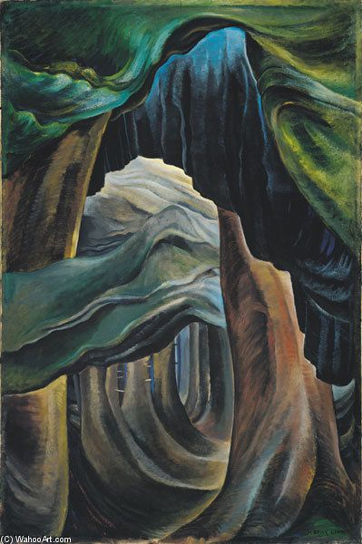 Forêt, Colombie-Britannique de Emily Carr (1871-1945, Canada)