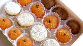 Alquimia | Productos - Caja surtida de: alfajores, trufas y dulce de naranja y zanahoria.