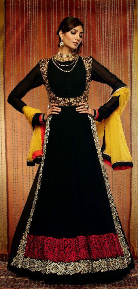 Indian Designer anarkali salwar kameez wedding dress pakistani Bollywood suits