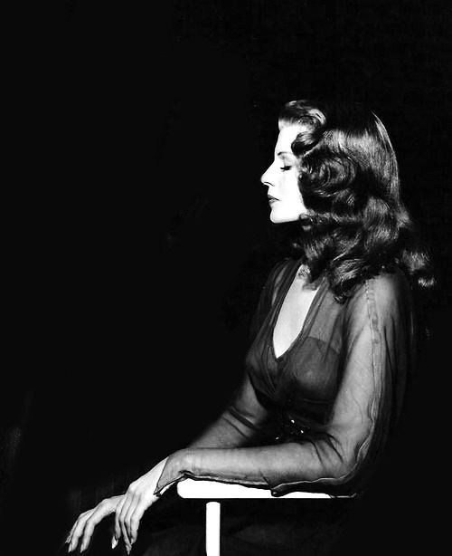 Just a lovely side shot of Rita Hayworth