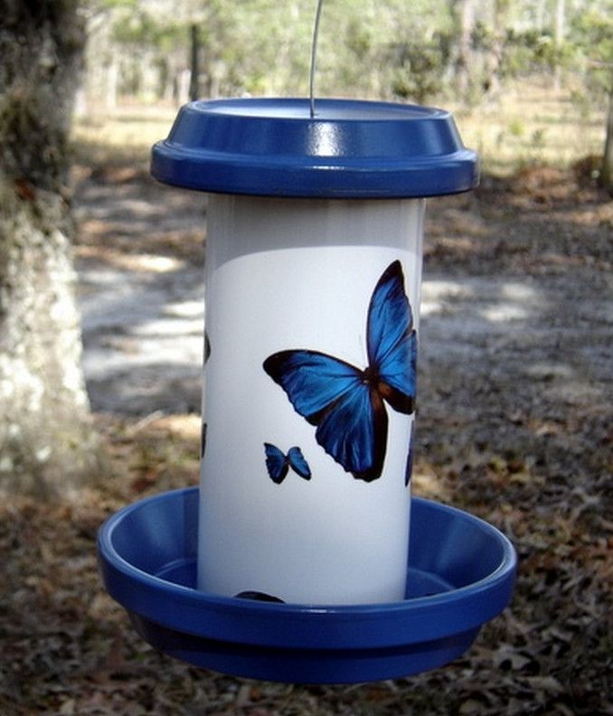 how to make a bird feeder out of pvc pipe