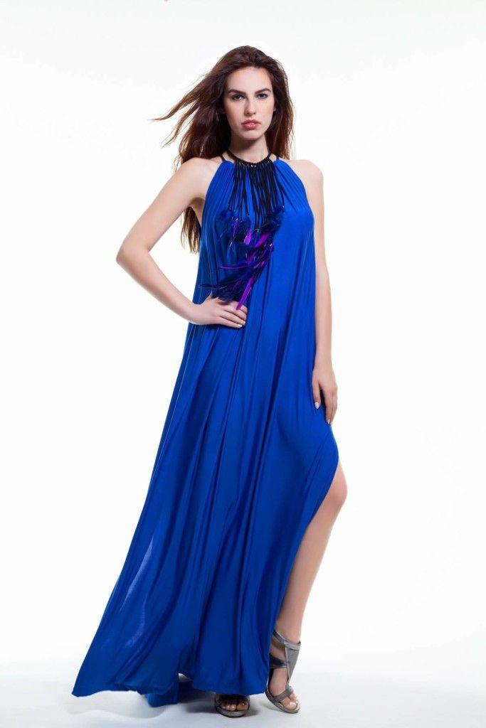 SARTORIAL | Chryssomally || Art & Fashion Designer - Maxi cobalt blue dress