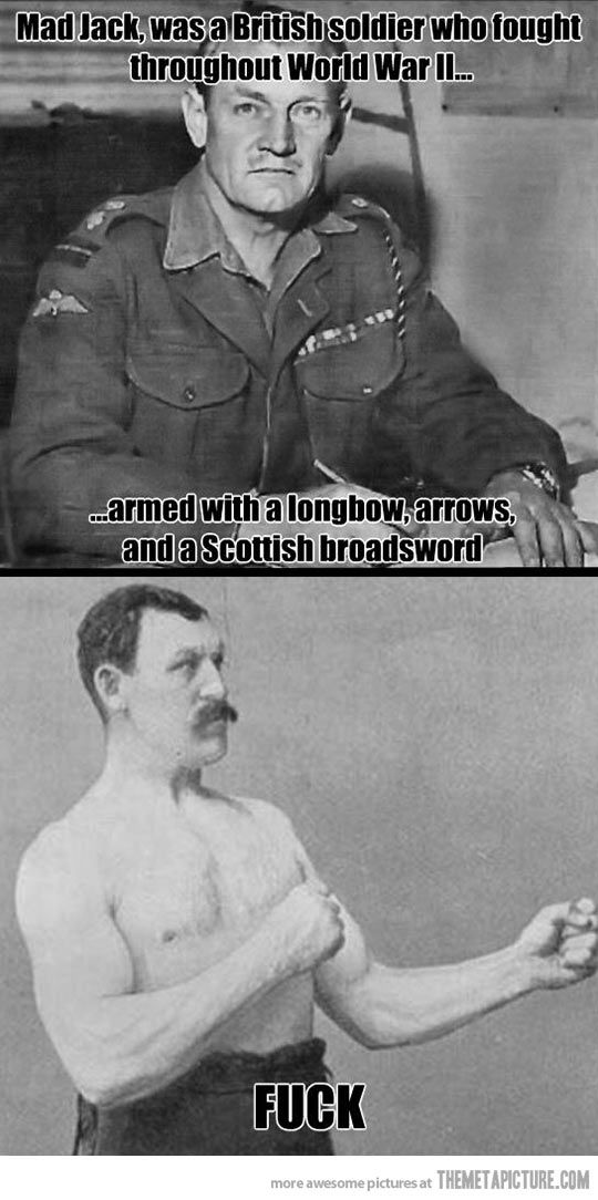 Overly Manly Man has competition…