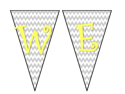 Welcome+Banner+from+Miss+2nd+Grade+on+TeachersNotebook.com+-++(4+pages)++-+A+cute+chevron+gray+and+yellow+WELCOME!+banner.+