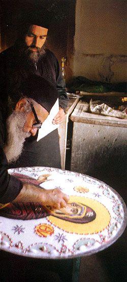 How the monks make Kollyva on the Holy Mountain
