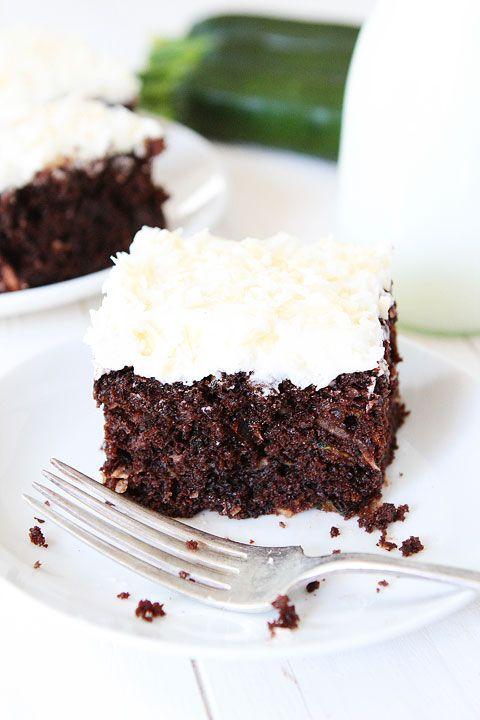 Chocolate Zucchini Coconut Cake Recipe