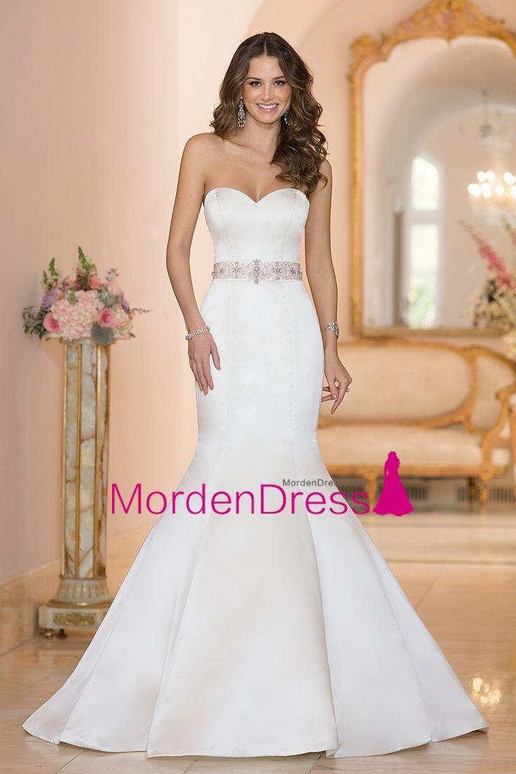 2016 Wedding Dresses Sweetheart Mermaid Court Train With Beading Satin