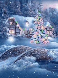 "Imagen ""postal-de-navidad-imagen-animada-0085"" en Imágenes Animadas de Postales y Tarjetas de Navidad - GifsAnimados.org"