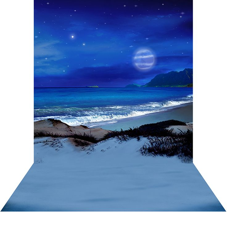 Blue Neverland   10u0027x20u0027 Photography Backdrop With Floor