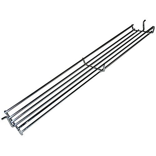 music city metals chrome steel wire warming rack for weber brand gas grills silver