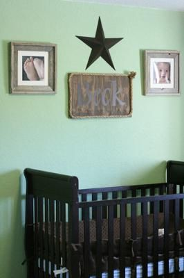 Classy Cowboy Lone Star Baby Nursery Wall Decor: I debated over whether or not to have cowboy nursery decor for awhile before making a decision because I didn't want one of those cheesy baby themes or