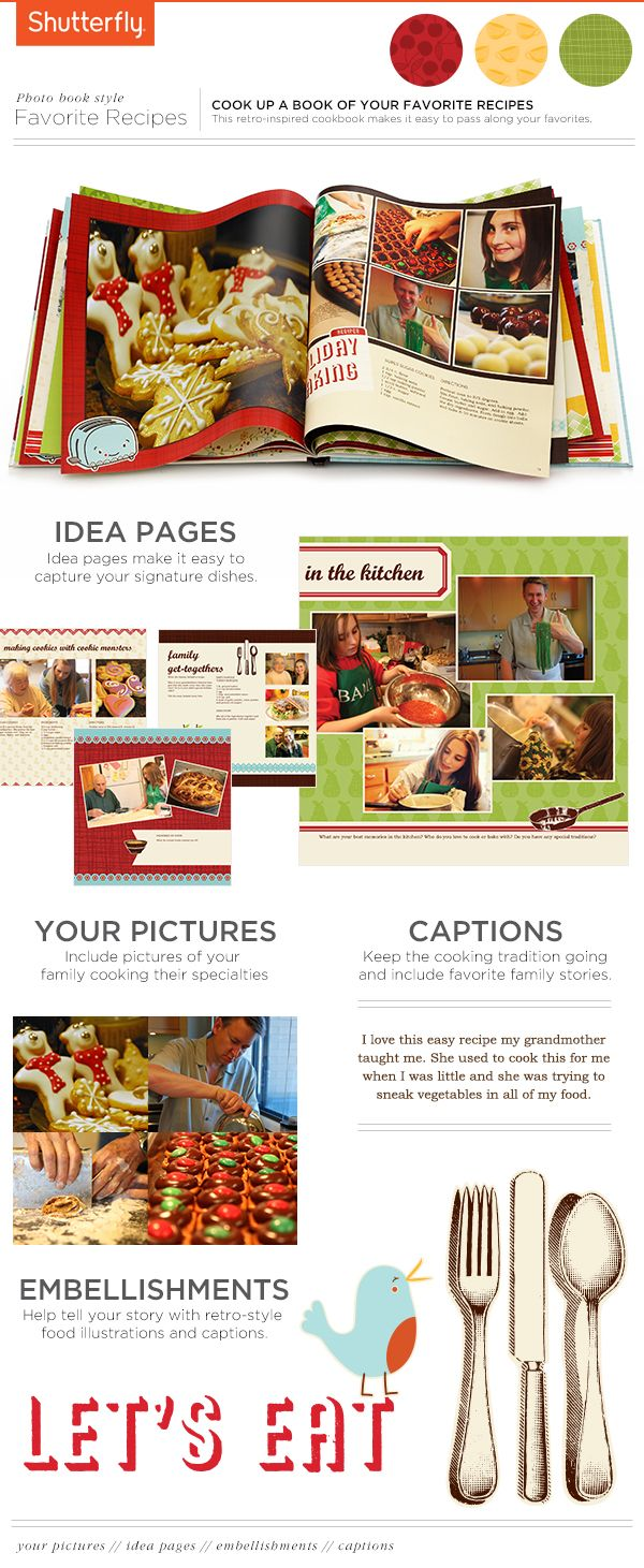 Inspirational Tips to Create the Perfect Recipe Photo Book.. for next years design family christmas gift