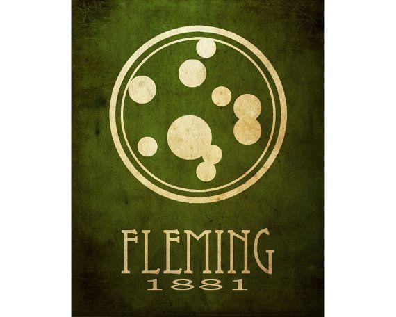Alexander Fleming 8 x 10 Print Medical Art Poster par meganlee