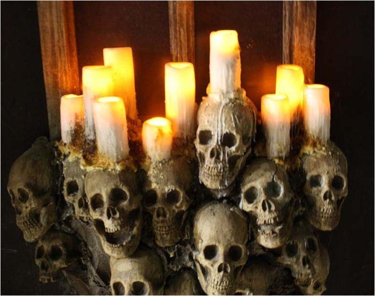 gothic halloween wreaths | GOTHIC WINDOW Halloween Haunted House Prop