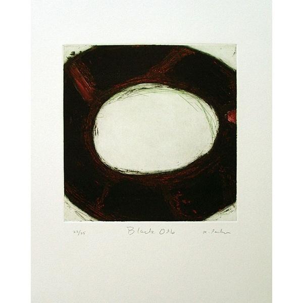 Kingsley Parker - Black Orb  etching, aquatint, spit bite    plate size 9 x 9    paper size 22 x 15