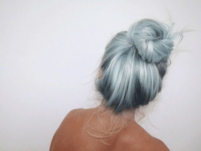 You got: ombré  You can't go wrong with ombre, you can choose a cool color to dye just the tips and make it look amazing. Whether its a natural hair color or a bold purple, it will look awesome.