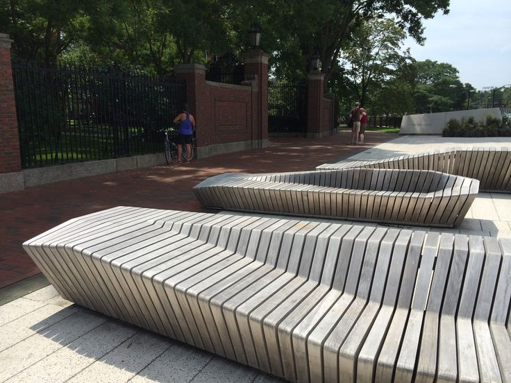 Digital fabrication was used to create these beautiful benches at Harvard university. STOSS landscape architects.