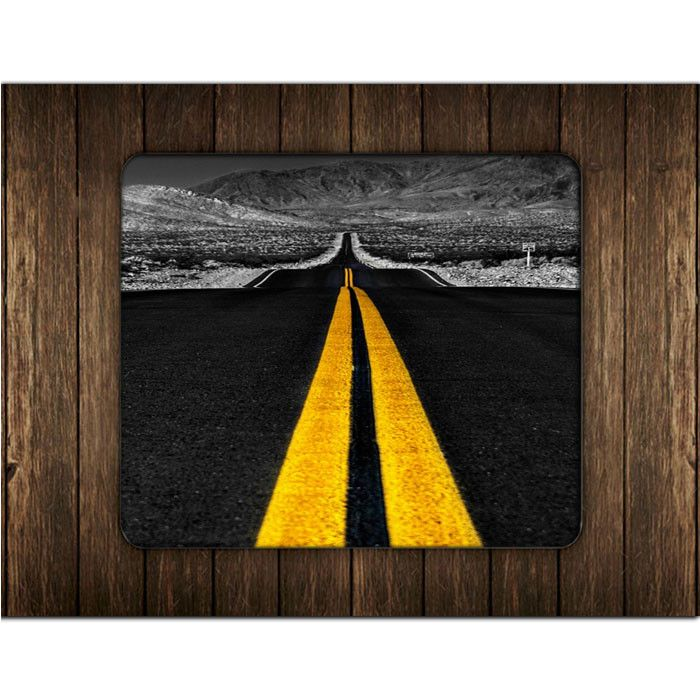 ROAD YELLOW LINES MOUSE PADS