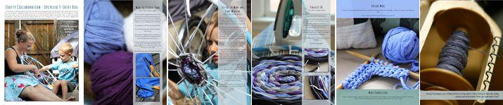 Peek Inside UpCycled T Shirt Rag Rug Mini-Magazine