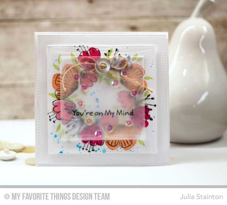 Sketched Blooms MFT Stamps Card by Julia Stainton