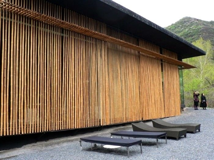 Commune at the Great Wall Bamboo Wall House | Remodelista