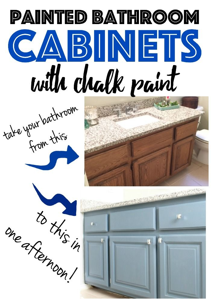 How To Paint Cabinets - Bathroom Edition - Refunk My Junk. I generally want this done all over the house. Out with the brown!