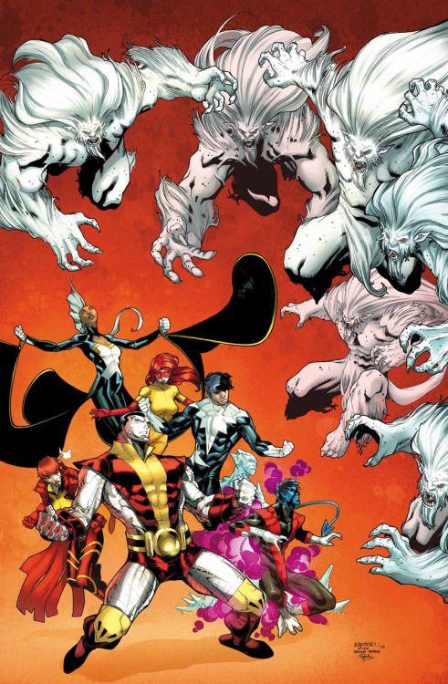 X-Men vs Wendigos - Carlos Barberi