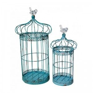 Jazzy Set of 2 Blue Cages