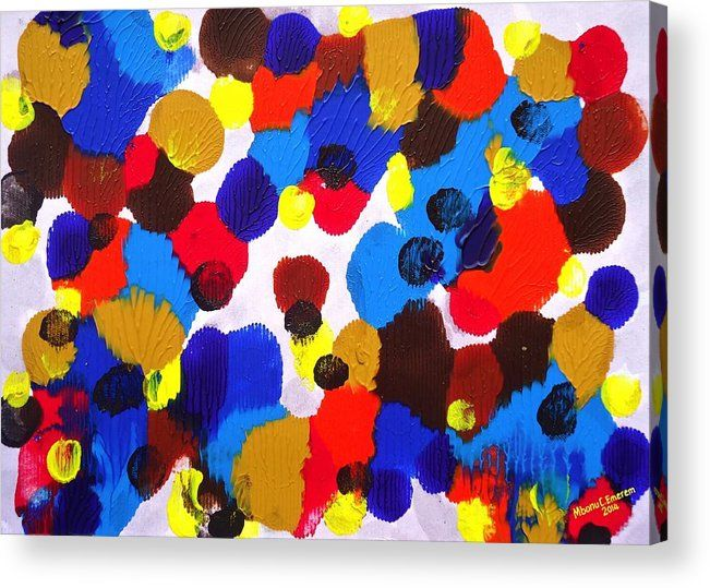 Colours In The Complexities Of The Invisible Lives 16 Acrylic Print By Mbonu Emerem Acrylic Prints Print Prints