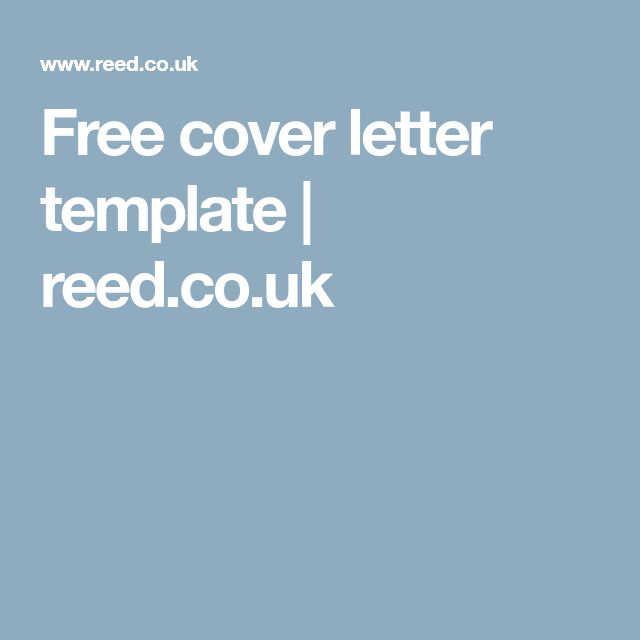 Free cover letter templates 25 free cover letter template reed yelopaper Image collections
