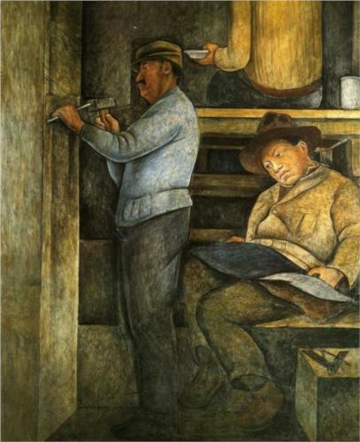 The Painter, the Sculptor and the Architect - Diego Rivera