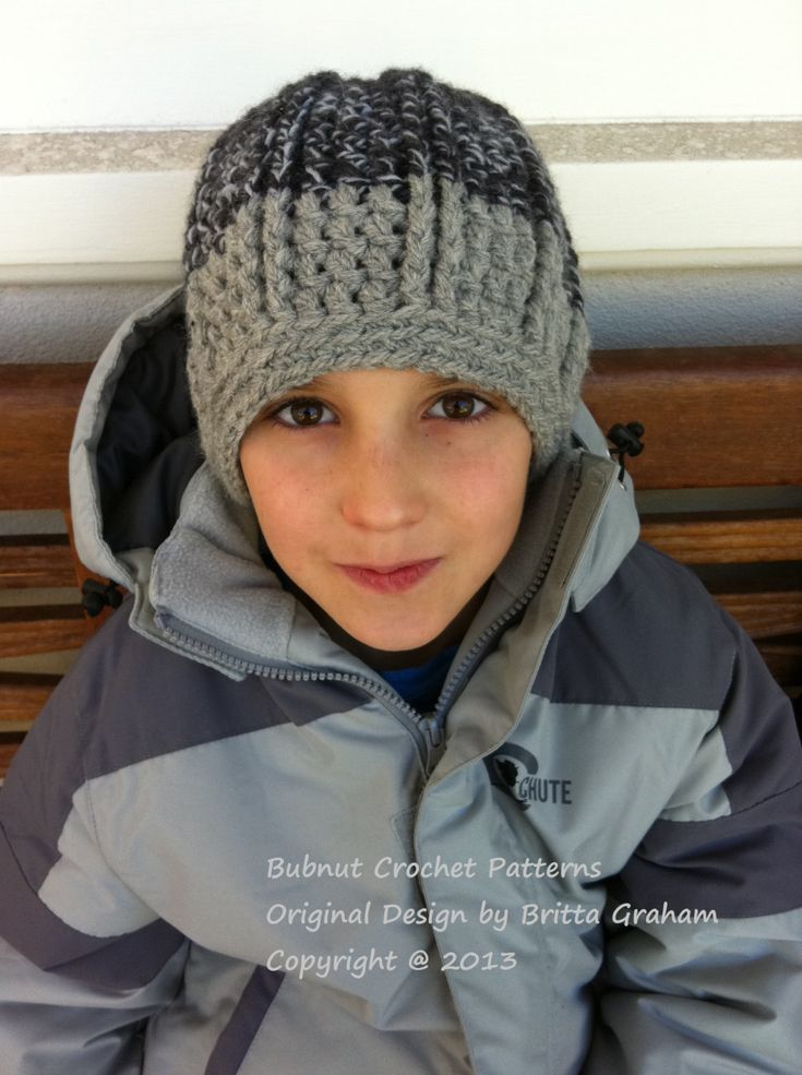 Bulky Yarn Child Hat Pattern Crochet : 4095 best images about Crochet Beanie Hat Patterns on ...