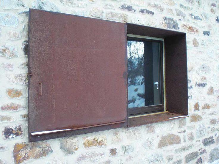 Contraventana alfeizar y laterales de ventana en acero - Acero corten fachadas ...