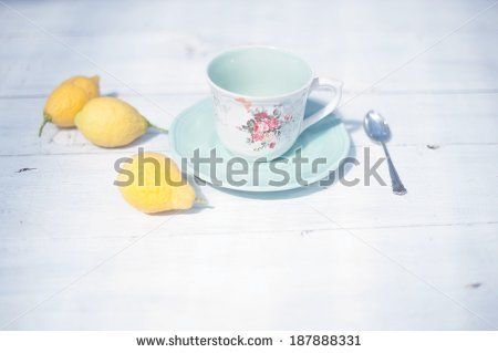 Tea Time, Breakfast in the garden, shabby chic , on Shutterstock, by Annalisa Bombarda!