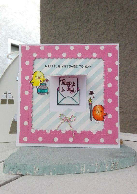 """""""HAPPY+B-DAY""""+CARD - Scrapbook.com #lawnfawn #birthdaycard #handmadecard"""