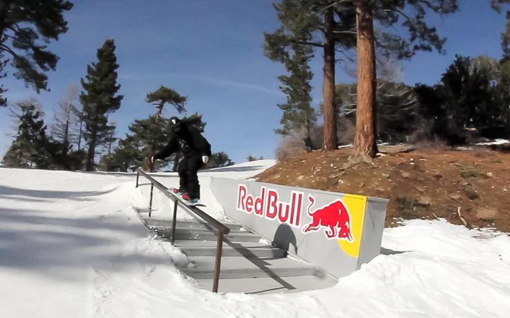 Alberto Ferri in #bearmountain #california #snowboard